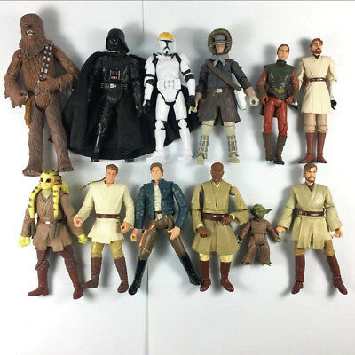 """Lot of 5 Star Wars Attack on Coruscant Grey Clone Trooper 3.75/"""" Loose Figure"""