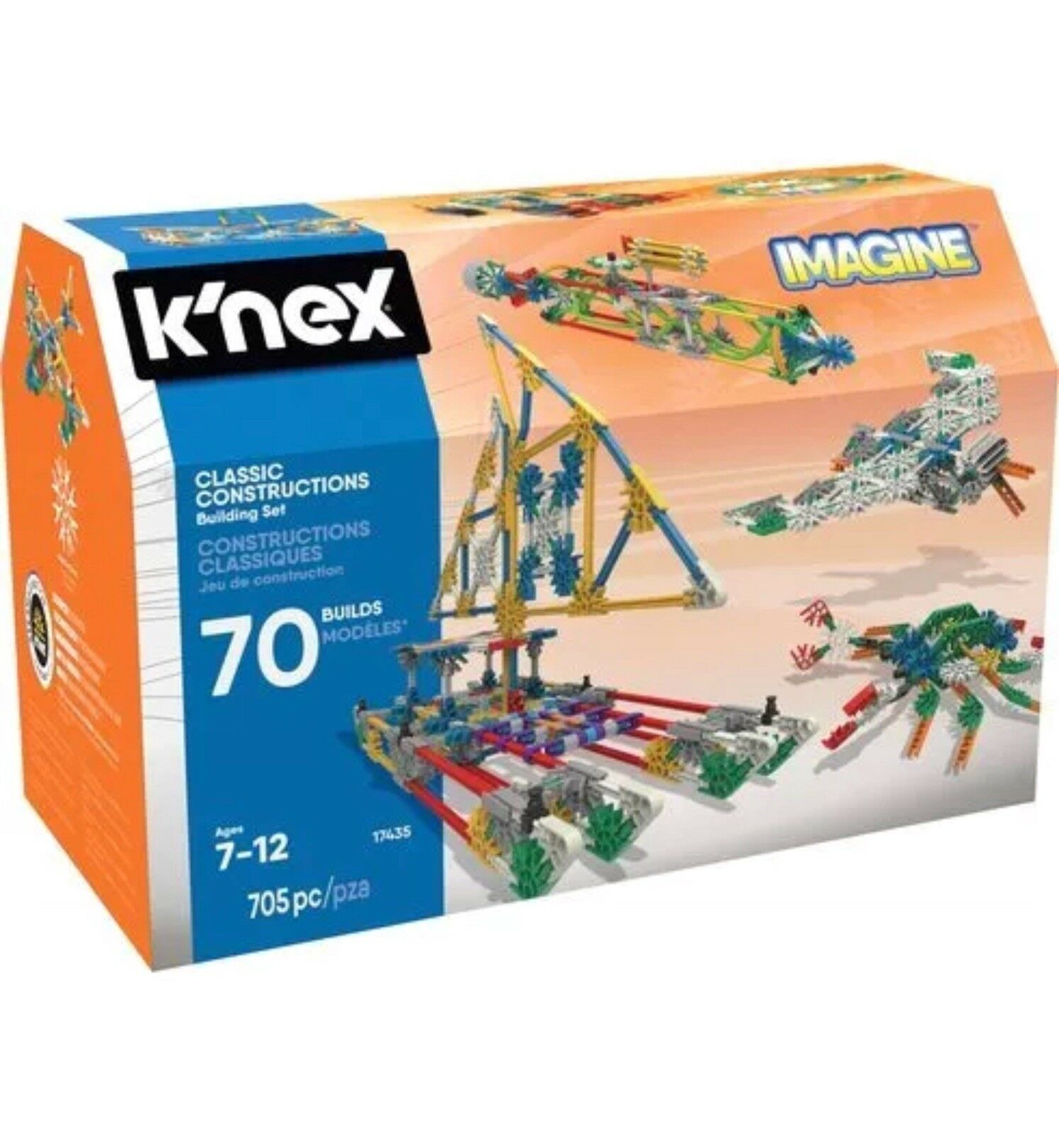 K'NEX - Classic Constructions - 70 Model Building Set