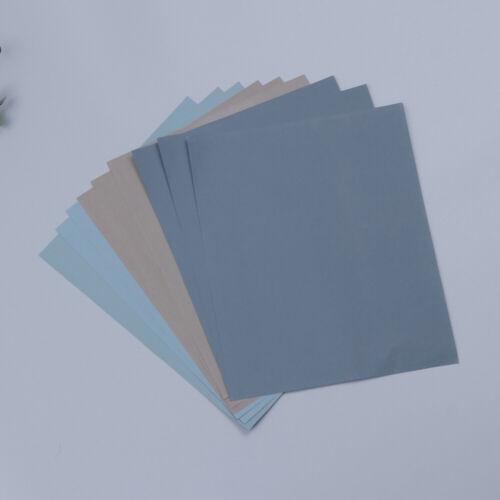 9pcs Mesh Schleifpapier Nass Trocken Papier Lack Sandpapier Schmirgelpapier