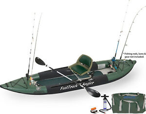 SEA-EAGLE-385FTA-SWIVEL-SEAT-FISHING-RIG-FAST-TRACK-INFLATABLE-KAYAK-6-ROD-HOLER
