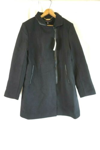 Turk 14 Adela Nwt Asymmetrical Black Tina 737566158844 Wool Coat Blend Zip Women's pxx4qHZCw