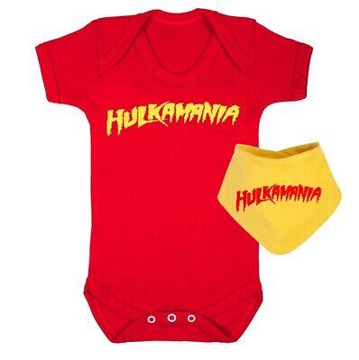 HULKSTER T-SHIRT HULK HOGAN HULKAMANIA T-SHIRT ASST COLOURS 0-4 YEARS NEW