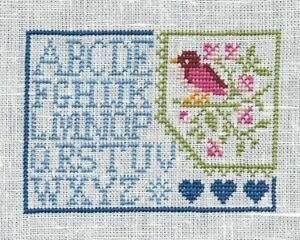 Broderie Point De Croix Abecedaire Oiseau Fleurs Sur Lin 14 Fils Ebay