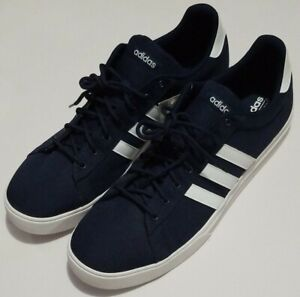 Men-s-Adidas-Daily-2-0-Sneaker-DB0285-Navy-White-Shoes-Size-US-16-NEW