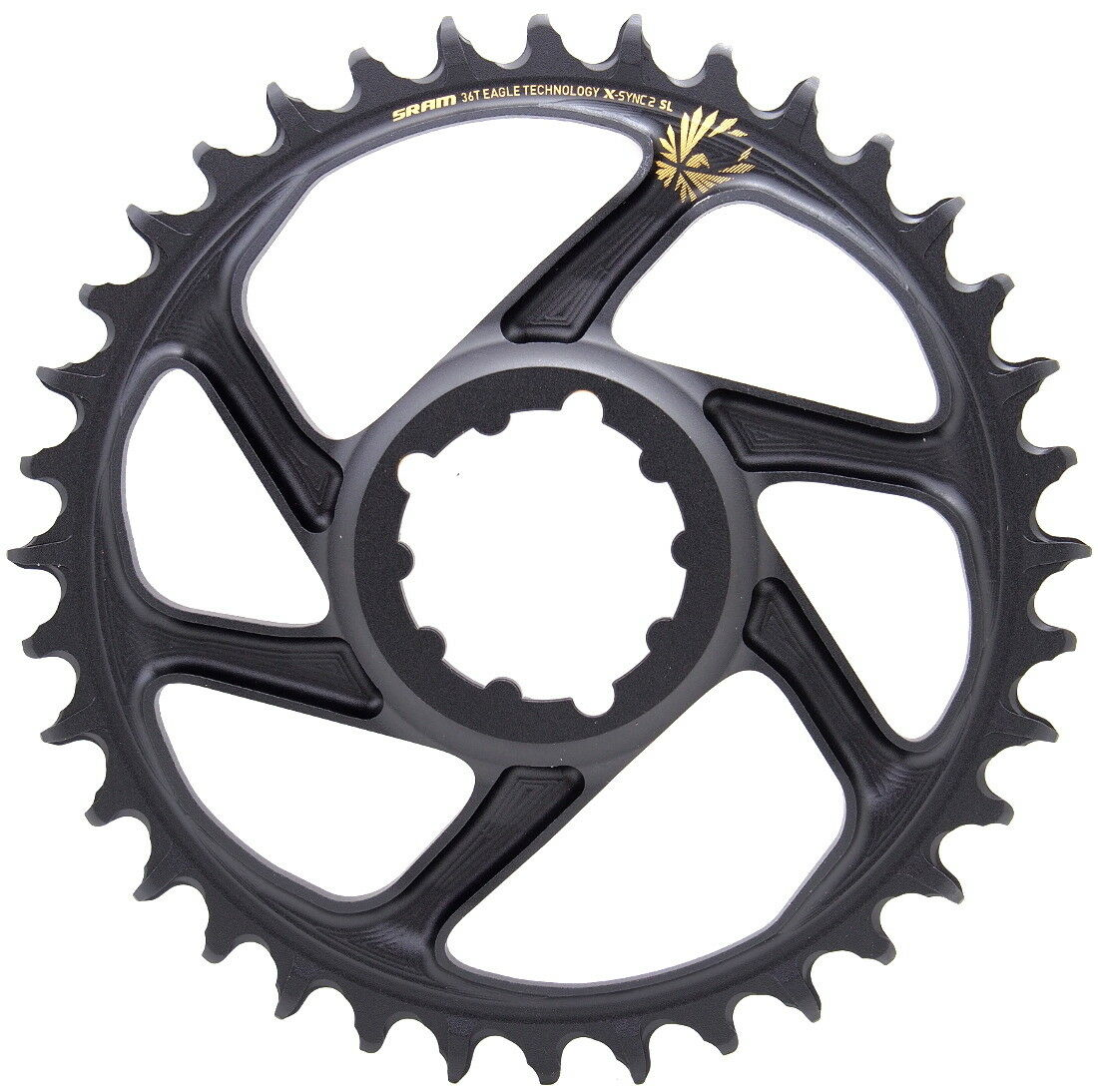 Sram XX1 X01 Eagle  12s Super Light  Direct Mount 36T Chainring 6mm Offset gold  outlet on sale