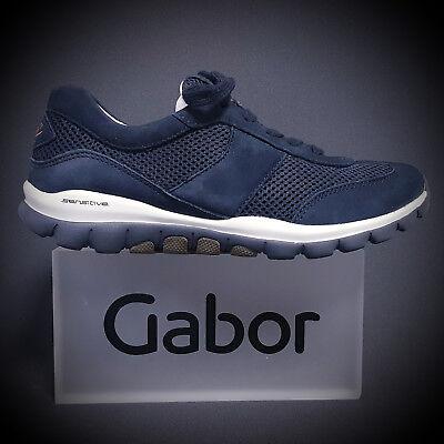 Gabor Comfort Rollingsoft Damen Sneaker Schnürschuhe 26.966.46 blau NEU | eBay