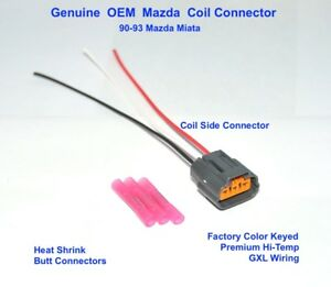 Details about Mazda Miata Ignition Coil Pack Engine Harness Connector Plug  Pigtail 90-93