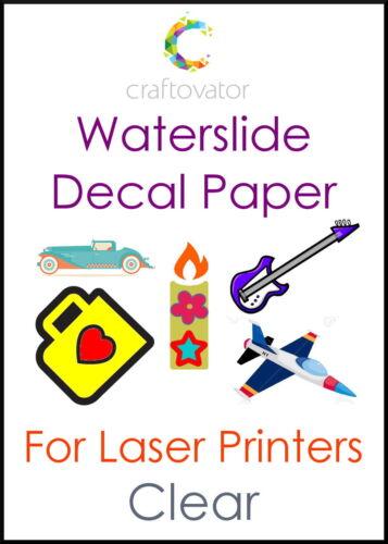 Wassertransferdruck Papier Laser A4 Seiten alle Packungsgrößen