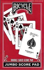 Bicycle Jumbo Bridge Double-Sided Score Pad Playing Cards Card Game Kem Congress