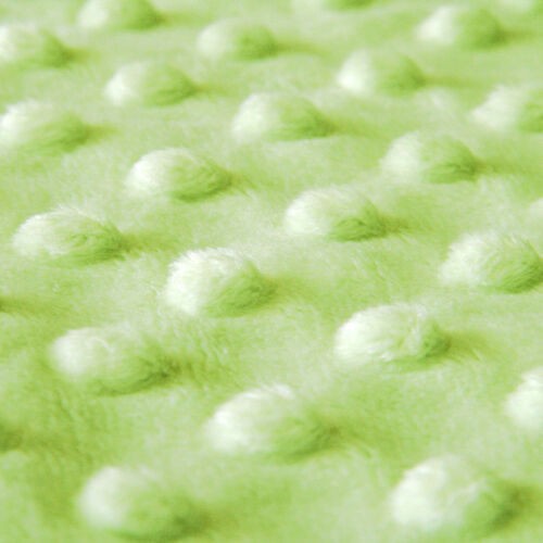 SOFT MINKY CHENILLE BLANKET COVERING FABRIC RAISING EMBO DIMPLE DOT IVORY 60WIDE