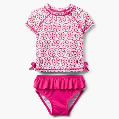 many sizes NWT Gymboree Rash Guard Geo Set Baby Toddler Girls UPF 50