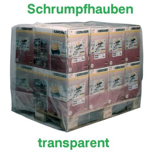 25 Stück Europaletten Schrumpfhaube 1250/850x1500mm Stärke 125µm transparent