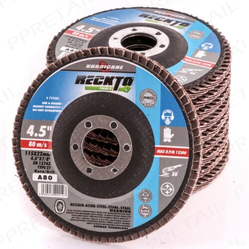 "FLAP SANDING DISC Grit 80 Fits 4.5/""//115mm Angle Grinding Wheel Repair Metal//Wood"