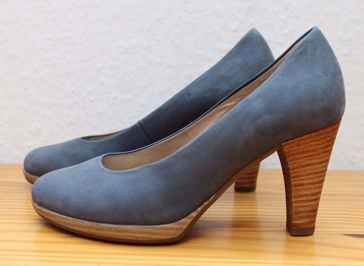 Gabor Damenschuhe Pumps  Gr. 2 1/2 blau Leder