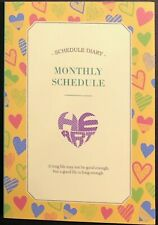 Korean Kawaii Cute Flower Schedule Yearly Diary Weekly Monthly Planner Books Dh