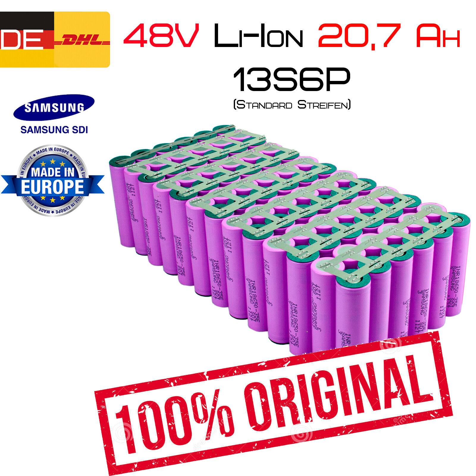 48v 20,70ah Li-ion conjuntos de baterías   13s6p   Samsung inr18650-35e