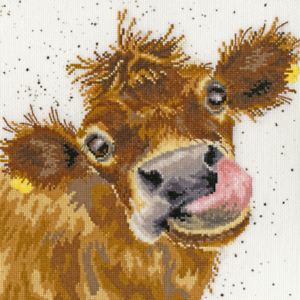 "Nuevo Bothy Threads Wrendale /""Moo/"" Vaca Completo Kit Punto De Cruz"