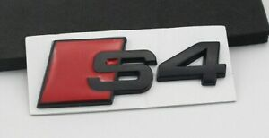 Audi-S4-A4-Black-TRUNK-BOOT-Badge-Emblem-SALE-UK-Stock