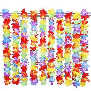 10x Newest Hawaiian Flower leis Garland Necklace Fancy Dress Party Hawaii Beach