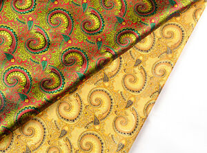 BY1-2-YD-X-36-034-CHINA-SILK-DAMASK-JACQUARD-BROCADE-STAIN-FABRIC-PEACOCK-FEATHER