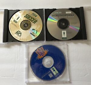 Lot Of 3 Panasonic 3DO Game Discs FIFA International Soccer Slam N' Jam 95