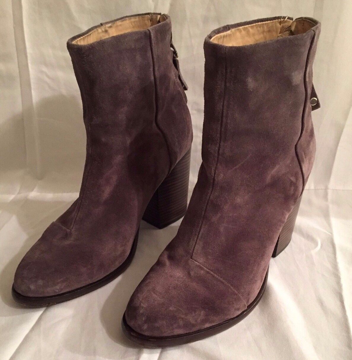 RAG & BONE Ashby Grey Suede Ankle Booties, size 37