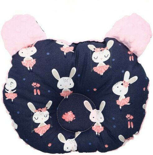 Kissen Teddybär für Neugeborenen Profiliertes und Korrigierendes MINKY Designe