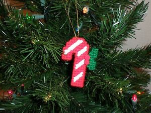 Candy-Cane-Christmas-Ornament-Handmade-Plastic-Canvas-Holiday-Decoration