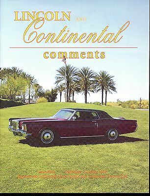 Lincoln & Continental Comments Magazine September/Oct. 2006 #272 Excellent 1971