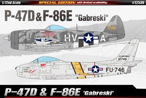 1-72-P-47-amp-F-86E-Gabreski-SPECIAL-EDITION-12530-ACADEMY-MODEL