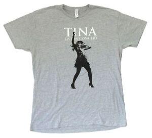 Tina-TURNER-CANTO-LIVE-IN-CONCERT-immagine-Heather-Grigio-T-SHIRT-NUOVA-UFFICIALE-Soft