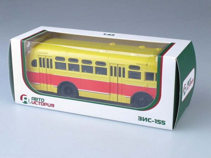 Scale Scale Scale model bus 1 43 ZIS-155 red-yellow 62826c