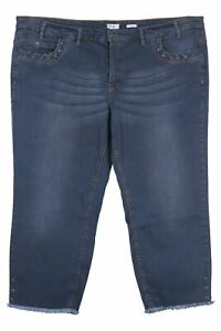Sheego Kira 7/8 Jeans Die Schmale Stretch Jeans Slim Fit Cropped Blue Size 56 58