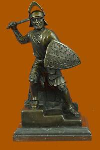 100-Solid-Bronze-Japanese-Samurai-Warrior-Statues-Military-Art-Home-Deco-Deal