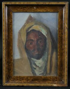 Maurice-Bouviolle-1893-1971-Portrait-Man-Orientalist-Morocco-Algeria-M-Zab