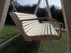 Hollywoodschaukel-aus-Holz-Gartenmoebel-Gartenbank-NEU-160cm