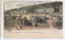 France, Boulogne Sur Mer, Le Boulevard Sainte Beuve et la Plage LL Postcard A549