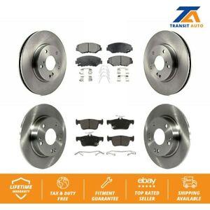 Front-Rear-Disc-Brake-Rotors-And-Semi-Metallic-Pads-Kit-Honda-Civic
