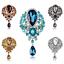 Wedding-Bridal-Colorful-Rhinestone-Crystal-Pearl-Flower-Animal-Broach-Brooch-Pin thumbnail 5