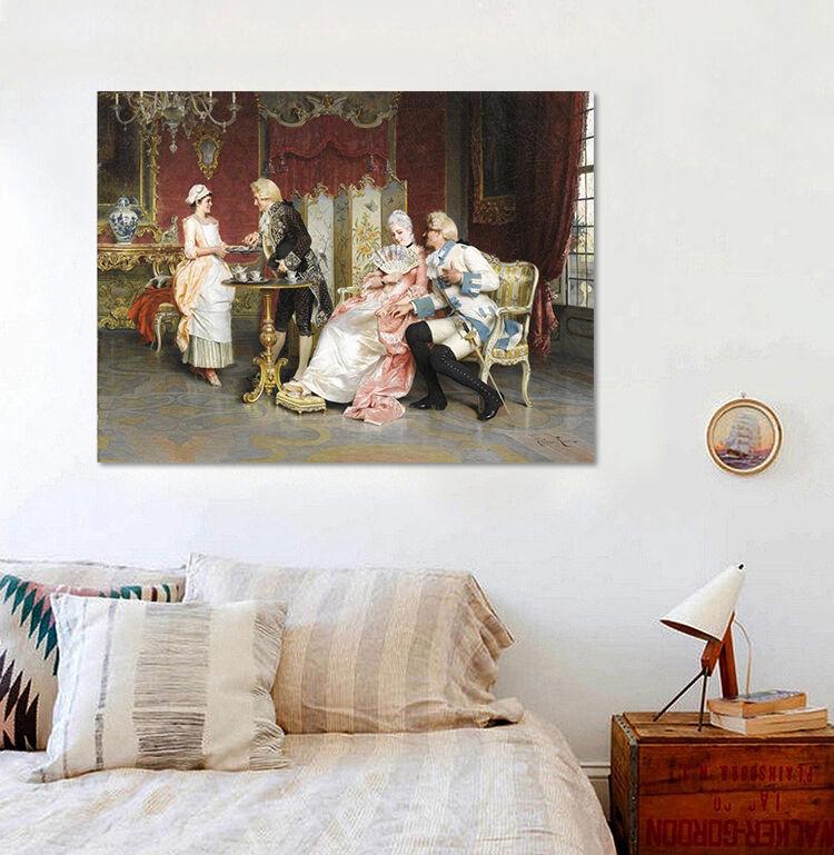 3D freundliches Gesprch Fototapeten Wandbild  BildTapete Familie AJSTORE DE