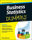 Business Statistics For Dummies by Alan Anderson (Paperback, 2013)