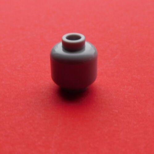 Lego 2x einfarbiger Kopf in hellgrau unbedruckt Neu light bluish gray head plain