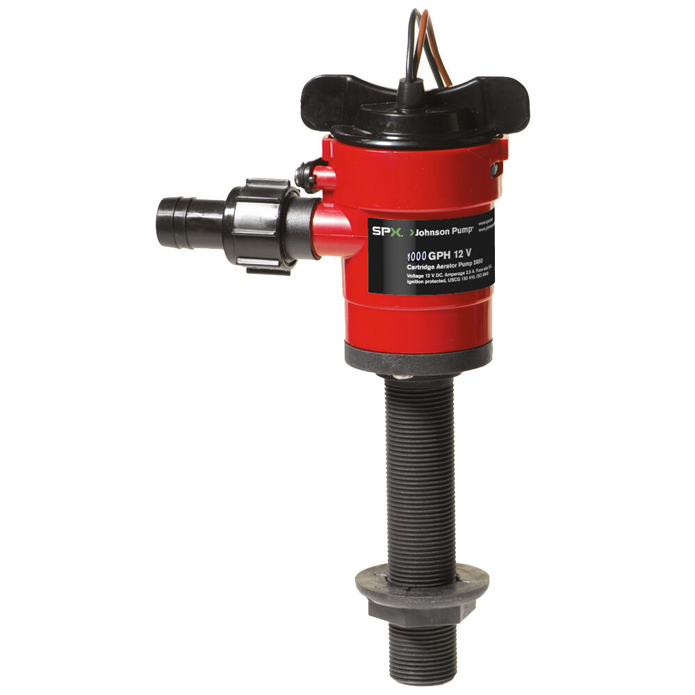 Johnson Pump Cartridge Aerator 1000 GPH Straight Intake - 12V
