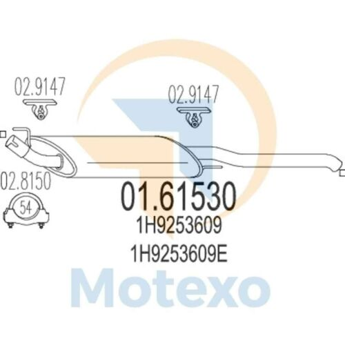 MTS 01.61530 Genuine New Exhaust with 2 year warranty