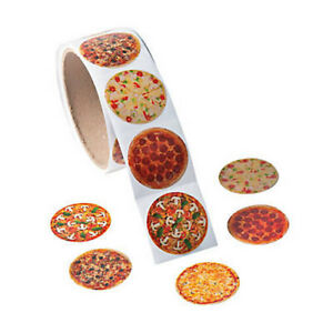 Roll-of-100-Pizza-Stickers-Loot-Party-Bag-Fillers