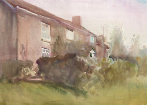 Howard-J-Morgan-b-1949-Signed-1987-Watercolour-House-View