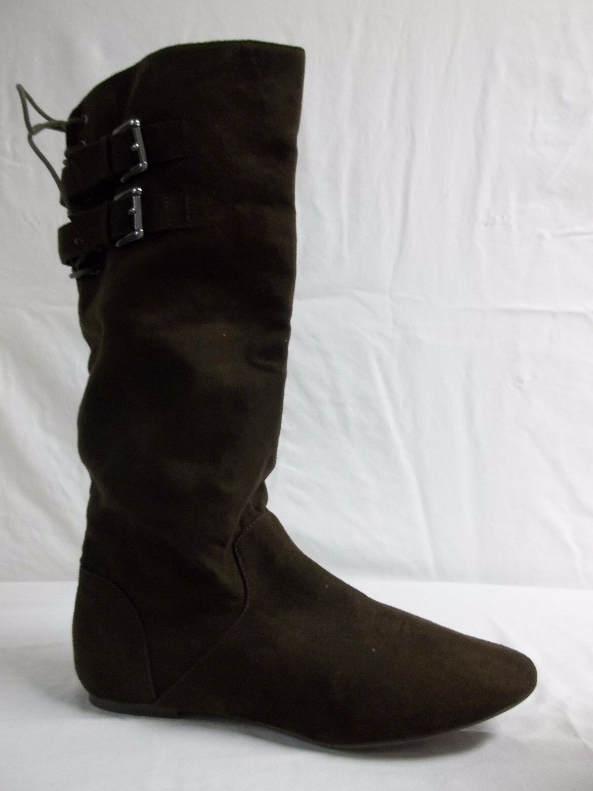Material Girl Größe 10 M Bonita Braun Knee High Stiefel NEU Damenschuhe Schuhes NWOB