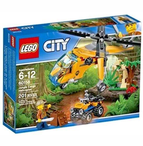 LEGO City Jungle Explorers Jungle Cargo Helicopter 60158 Building Kit 201 Piece