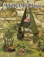 Macrame Magic Vintage Instruction Book 1975 Hanging Planters Pot Covers