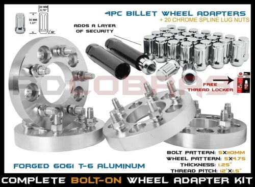 Conversion Wheel Adapters 1.25 Thick 5x4.75 4 Pc Chrysler 200 5x110 To 5x120